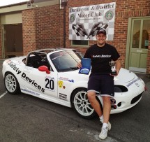 Safety Devices' Chris Platt earns 3rd place Ma5da MX5 Cup Trophy at Croft