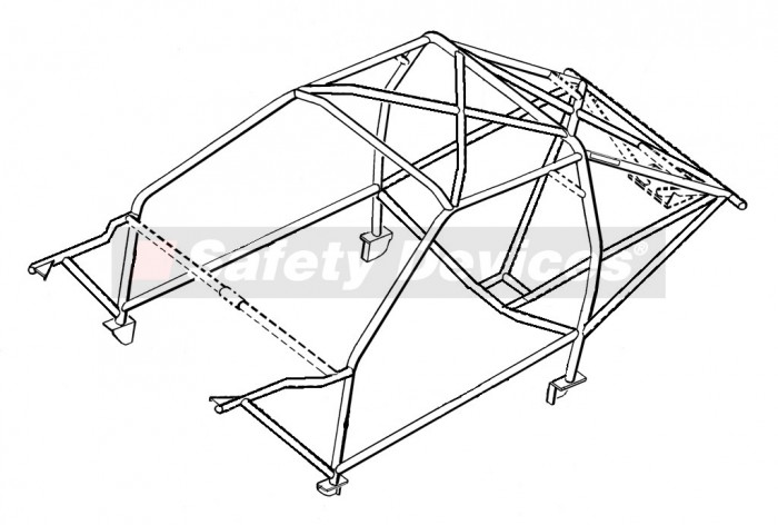Ford Escort Rs Cosworth 4x4 Weld In Roll Cage Safety Devices