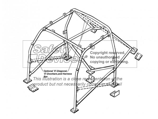 seat ibiza 6k hatchback multi point bolt