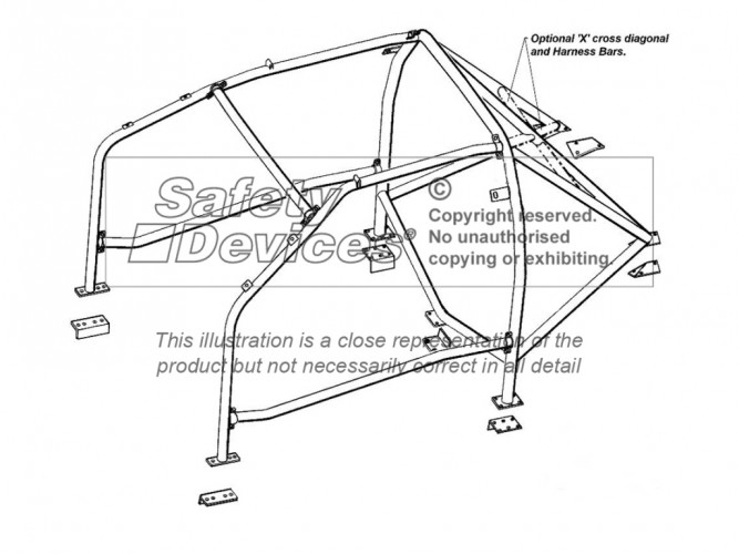Honda Civic Eg6 Multi Point Bolt In Roll Cage Safety Devices