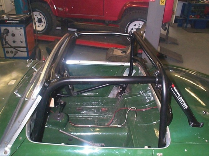 Austin Healey Frogeye Sprite 6 Point Bolt In Roll Cage