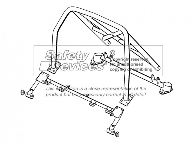 Proton Satria Hatchback Multi Point Bolt In Roll Cage