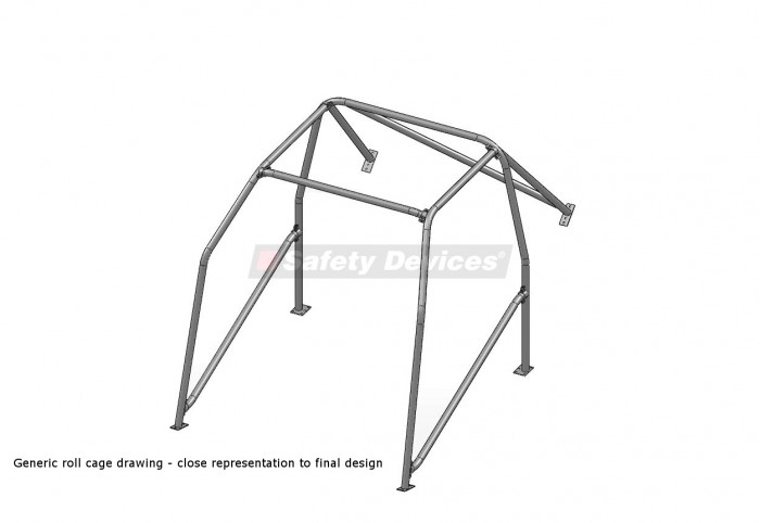 Suzuki Swift Mk2 6 Point Bolt-in Roll Cage | Safety Devices