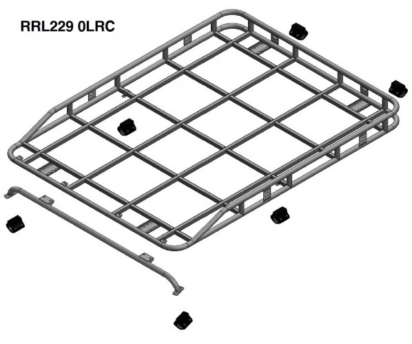 land rover defender 90 hard top roof rack roll cage mount