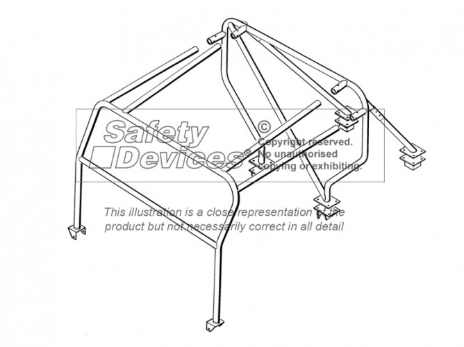 land rover series 2 2a lightweight weld in roll cage