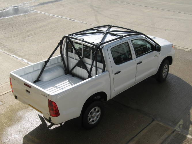 Toyota Hilux Kun25 Vigo Crew Double Cab Pick Up Multi Point Bolt In Roll Cage Safety Devices
