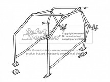 Ford Sierra Non Sunroof Multi Point Bolt-in Roll Cage