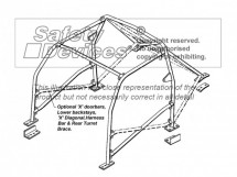 Honda Integra Type-R DC4 Multi Point Bolt-in Roll Cage