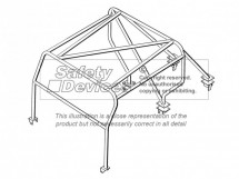 Land Rover Defender 90 Truck Cab/Pick-Up Weld In Roll Cage