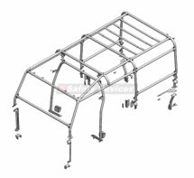 Land Rover Defender 110 Puma Utility Wagon Multi Point Bolt-in Roll Cage
