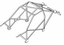 BMW 3 Series E36 Coupe Weld In Roll Cage