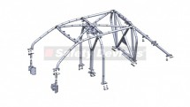Ford Ranger T6 Double Cab Pickup Multi Point Bolt-in Roll Cage