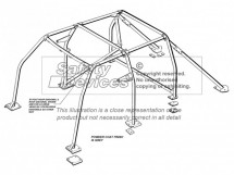 Nissan Patrol Y61 (GU) Station Wagon  Multi Point Bolt-in Roll Cage